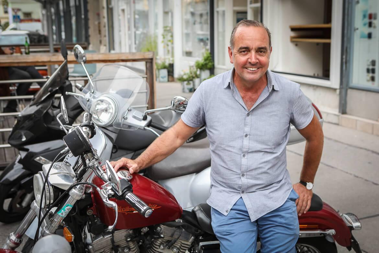 Berndt Anwander, Harley Davidson, Motorradfan, Open Air Kinoveranstalter