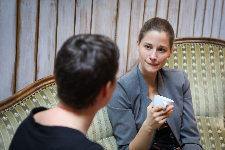 Darm mit Charme, Autorin beim Interview, MadameWien, Madamewien, madamewien.at