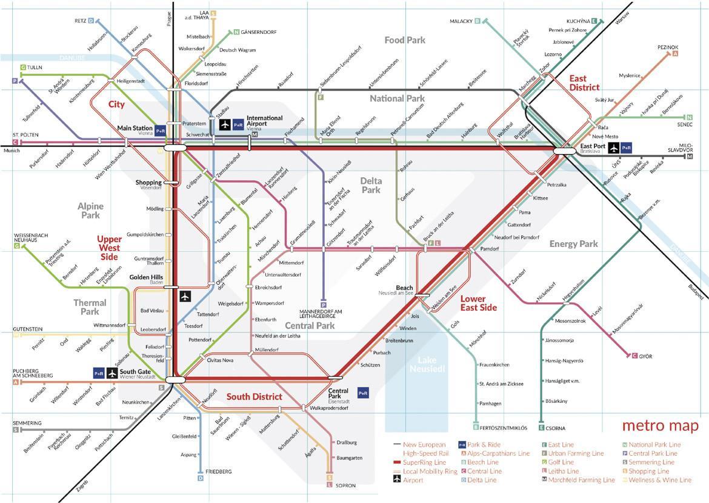 Metro Map Vienna, SUPERWIEN, Madamewien