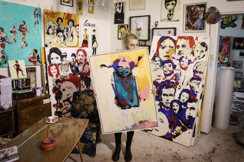 Pippi Langstrumpf, Nina maron, Künstlerin, pop-art, madamewien.at