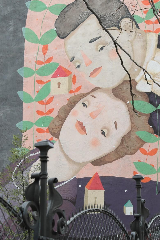 Frau Isa, Mural, Graffiti, Thomas Grötschnig, Madamewien