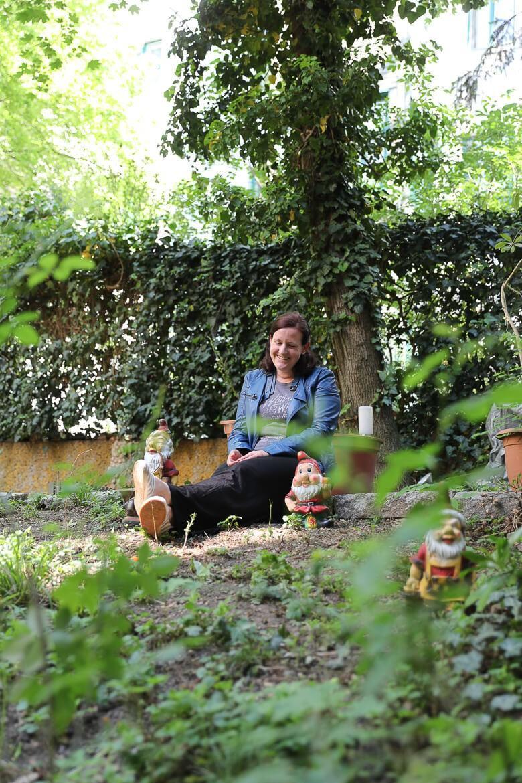 Eva Rosewich mag ihren Garten im Hof